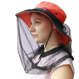 Mosquito Head Net Face Mesh Bugs Head Protecting Outdoor Hiking Camping Walking