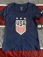 US Womens Soccer Nike 3 World Cup Stars Blue T Shirt USWNT Medium