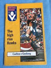 VFL Football Record 1982 Carlton V Geelong
