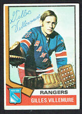 Gilles Villemure #179 signed autograph auto 1974-75 Topps Hockey Trading Card