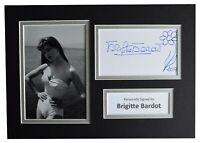 Brigitte Bardot Signed Autograph A4 photo display Film Flower Art AFTAL COA