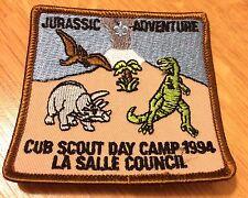 Boy Scout Cub Patch Jurassic Adventure Vtg 1994 La Salle Day Camp Dino