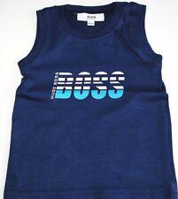Boy's Genuine Hugo Boss Dark Blue Cotton Singlet Top  - 6month - 67cm