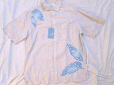 NEW! $79 Caribbean island size M medium mens shirt blue beige hawaiian boat
