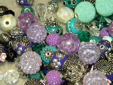 NEW 25/pcs per lot Purple/ Teals Jesse James beads Randomly picked LOT