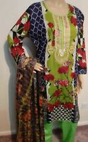 Pakistani women 3pc Readymade Embroidered lawn shalwar kameez suit