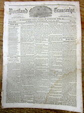 1857 newspaper w Long detailed description of ESKIMO First nation people CANADA