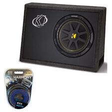 """Kicker TC10 Loaded 10"""" 4-Ohm Comp Sub Subwoofer Package 600-Watt Amplifier Kit"""