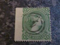 TRANSVAAL POSTAGE STAMP SG138 1/- GREEN VERY FINE USED
