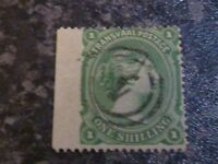 TRANSVAAL POSTAGE STAMP SG138 1/- GREEN VERY FINE-USED