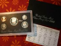 1992 S United States Mint Silver Proof Set w/ OGP & COA
