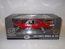 Ertl 1:18 Diecast Authentics - 1967 Chevy Impala SS 427 - Red - Supercar LE MIB