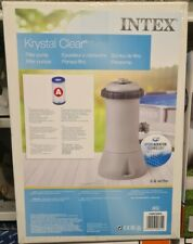 Intex Swimming Pool Filter Pump Krystal Clear 8   16ft 1000 Gallon Per Hour 638R