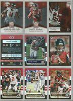 Atlanta Falcons 9 card 2015 Donruss insert & parallel lot-all different