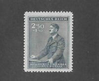 MNH stamp 2.50+ 1.50  / Adolph Hitler 1942 Birthday WWII Third Reich Occupation