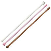 Spring Loaded Extendable Telescopic Net Voile Tension Curtain Rail Pole Rods Su