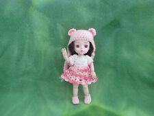 """6"""" Bjd Crochet Dress Booties Knit Hat Fabric Panty Kemper Mohair Wig * Lovewraps"""