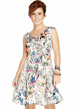 BNWT COLEEN ROONEY ORCHID PRINT SATIN PROM DRESS SIZE 20 RRP £100