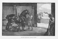 Shire Horse Show, Finishing Touches - Antique Print 1891