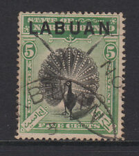 "LABUAN - 1897/1901 5c ""PHEASANT"" FINE USED SG.92a CAT.VALUE £60. (REF.D3)"
