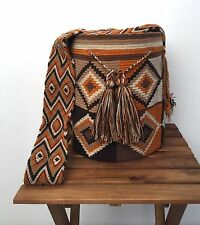 "AUTHENTIC LARGE Wayuu Hobo Mochila Bag + FREE Bracelet + FREE US Shipping ""PLUS"""