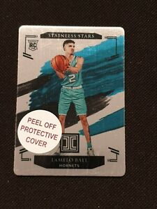 2020-21 Panini Impeccable Stainless Stars 62/99 LaMelo Ball RC Card #22