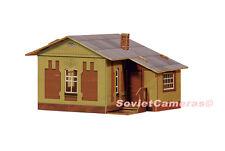 1/87 HO Scale Building Waypoint Lodge House Station Railroad Cardboard Model Kit