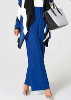 Kaleidoscope Royal Blue High Waist Wide Leg Trouser