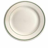 "Homer Laughlin Vintage Restaurant ware Plate Green Striped Rim 9"" round"
