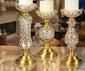 Candle Holder Candlestick Petal-type Alloy Base Furnishing Table Centerpiece New