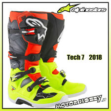 STIVALI CROSS ENDURO ALPINESTARS TECH 7 2018 YELLOW RED FL GREY BLACK TG. 45.5
