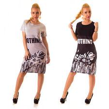 Markenlose knielange Damenkleider im Tuniken-Stil aus Baumwollmischung