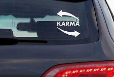 Karma - 8 Inch White Vinyl Decal For Windows, Trucks, Cars