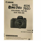 Canon Genuine EOS Rebel T6s 760D Instruction Owners Manual EOS760D Book NEW