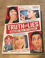 Truth or Lies Game with Microphone Bundle Nintendo Wii NEW factory sealed