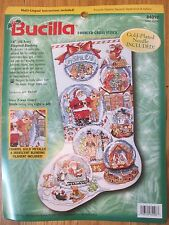 Bucilla Counted Cross Stitch Kit Snow Domes Stocking #84098 ~ Opened