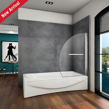 1000X1500 180° Pivot Bath Shower Screen Door Panel 8mm NANO Glass Seal Chrome