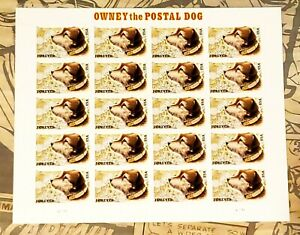 US SCOTT 2010 4675 PANE/20 OWNEY THE POSTAL DOG STAMPS FOREVER  MNH Collectible