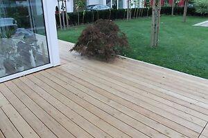 Terrassendielen 28x145 mm sibirische Lärche Glatt Holzterrasse Balkonbretter  A