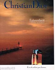 PUBLICITE ADVERTISING 065  1992  FAHRENHEIT  eau de toilette homme de DIOR