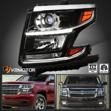 Driver Side For 2015 2020 Chevy Tahoe Suburban Projector Headlight Black Lamps