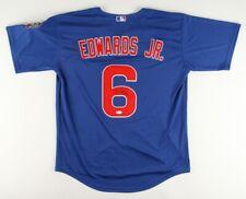 Carl Edwards Jr. Signed Chicago Cubs Majestic MLB Jersey (JSA COA)2016 WS Champs