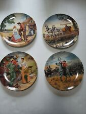 Edwin M Knowles Collector Plates Oklahhoma