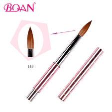 1PC Kolinsky Sable Hair Acrylic Nail Brush 14# Manicure Tool Pink Metal Handle