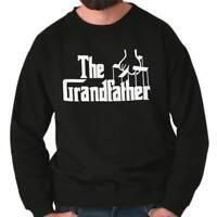 Grandfather Funny Grandpa Birthday Gift Idea Men's Long Sleeve Crew Sweatshirt