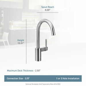 Moen 7365SRS Align One-Handle Standard Kitchen Faucet in Spot Resist Stainless