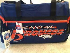 Denver Broncos Football Duffle Bag w/side pockets NFL OFFICIALLY LICENSED!