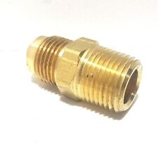 "PARKER MALE BRASS FITTING, MPT Pipe Adapter 3/8"" FLARE x 3/8"" Male(MIP NPT)"