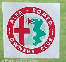 Alfa Romeo Vintage Window Sticker 70mm Internal  Giulietta Spider GTV 75 164