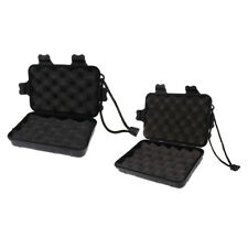 2x Portable Foam Padded Hunting Arrowheads Box for Arrow Heads Tools, L & M